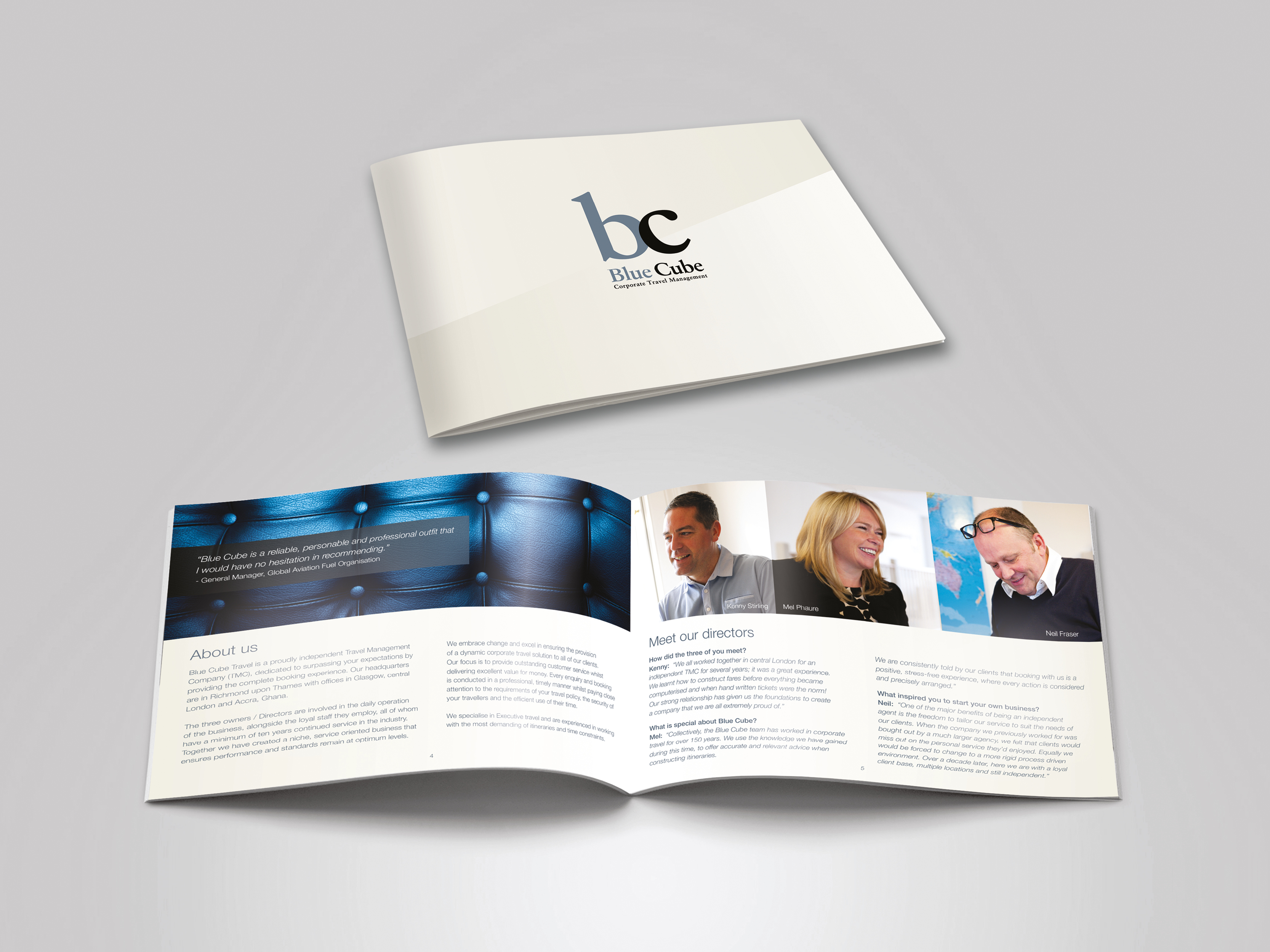 Brochure design for print and download