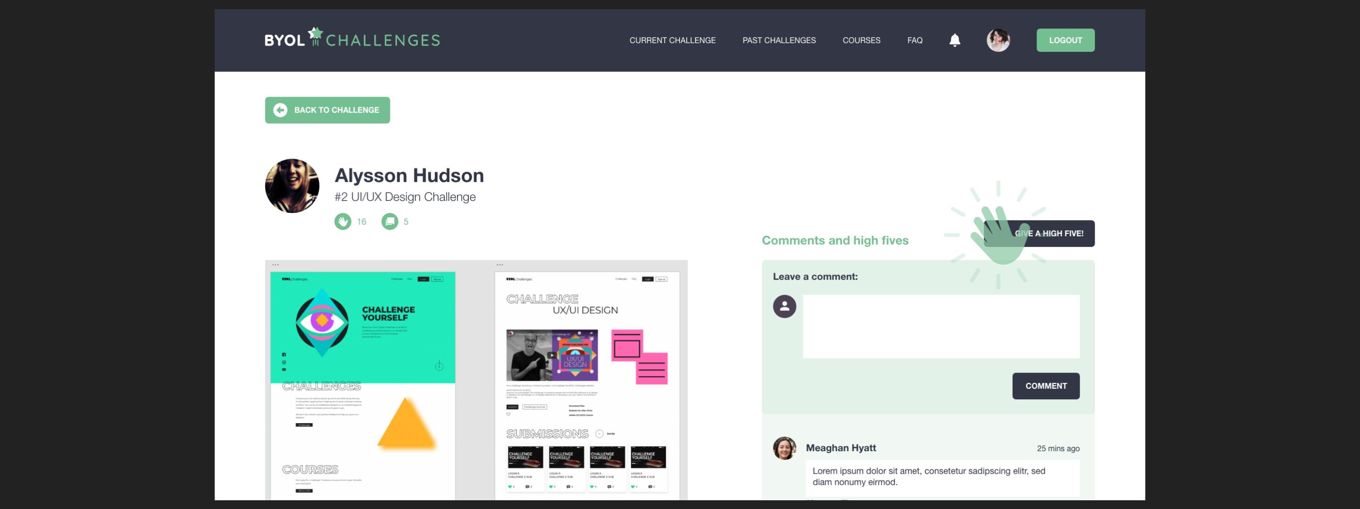 Member page design