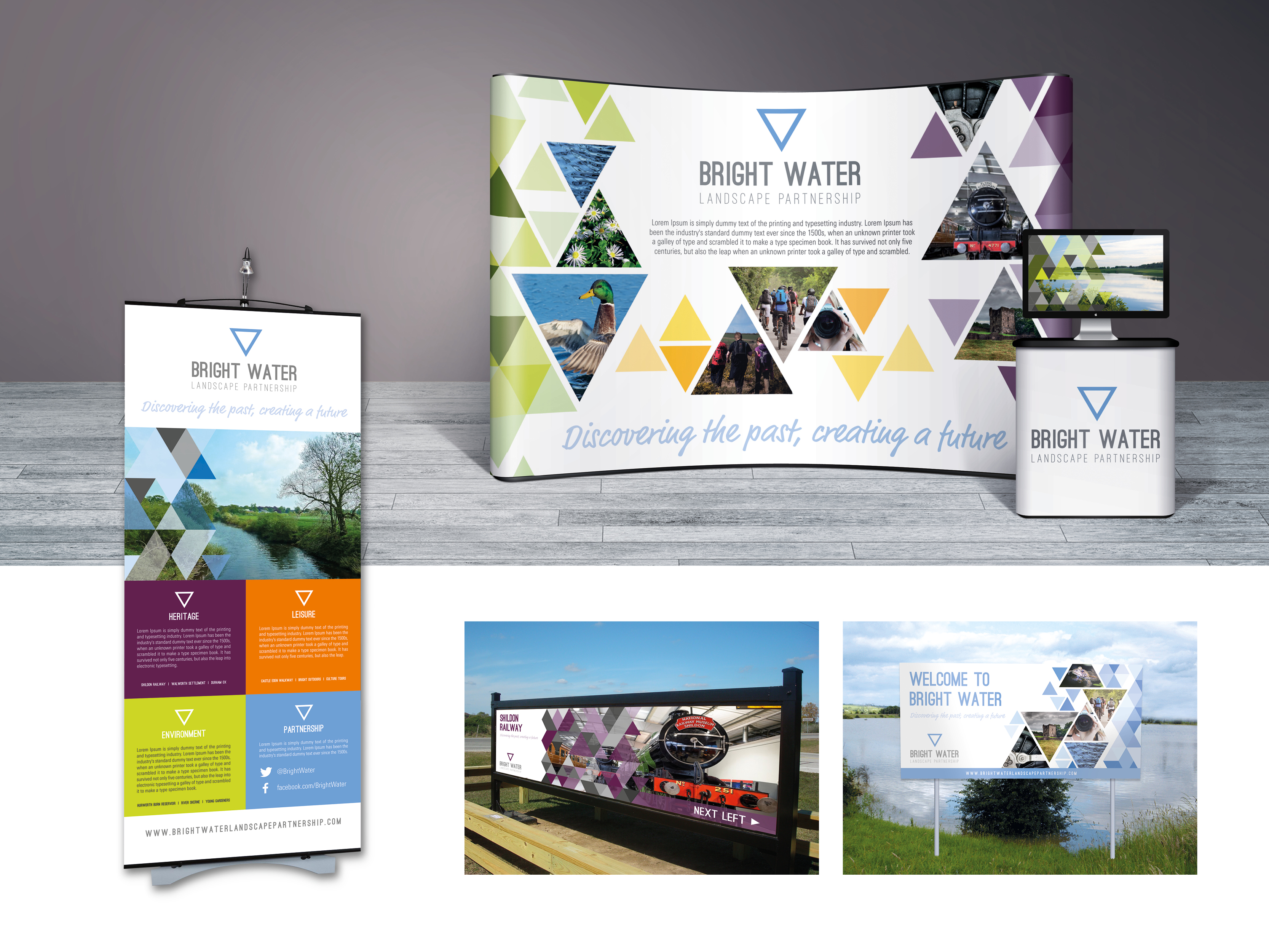 Exhibition and pop up banner designs