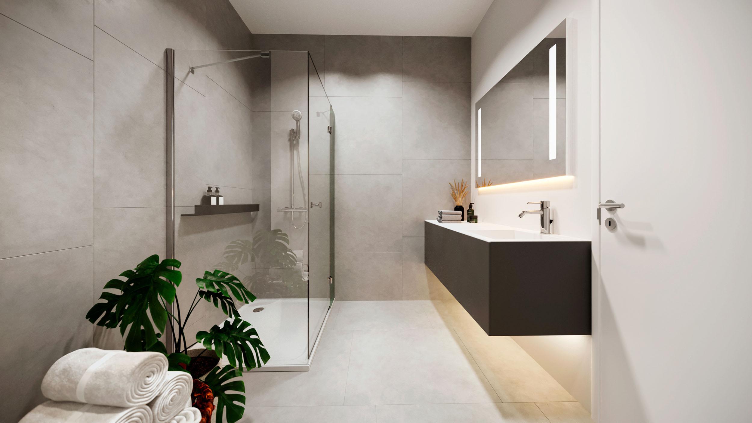 Zoetwaterlande badkamer