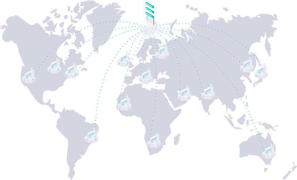 World distributed manufacturing visual