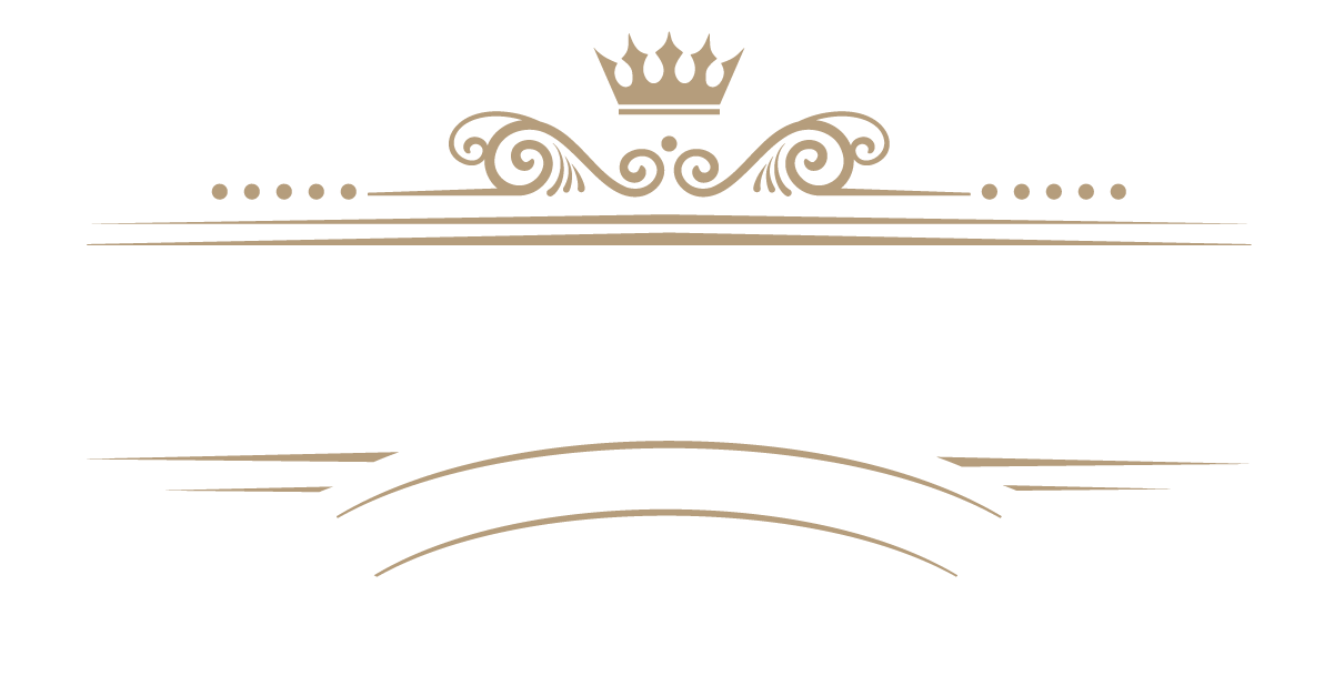 This is the logo for the Black Wall Street Market. It also reads Established 2021, Stonecrest, Georgia, USA. It features a crown at the top with elegant swashes and decorative elements in gold