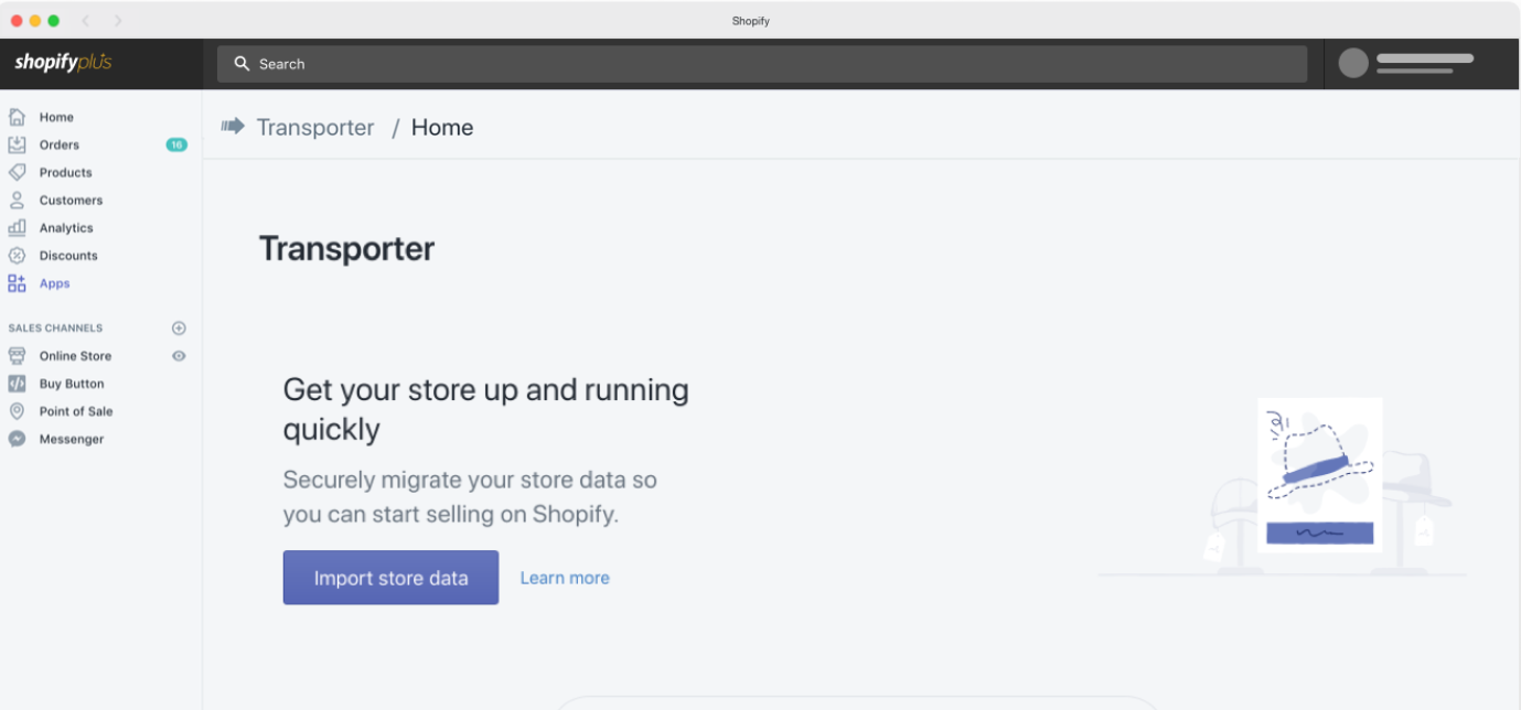 Tools that help migration from magento to shopify