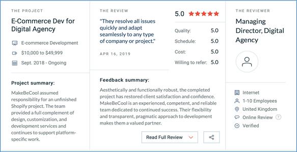 a client review