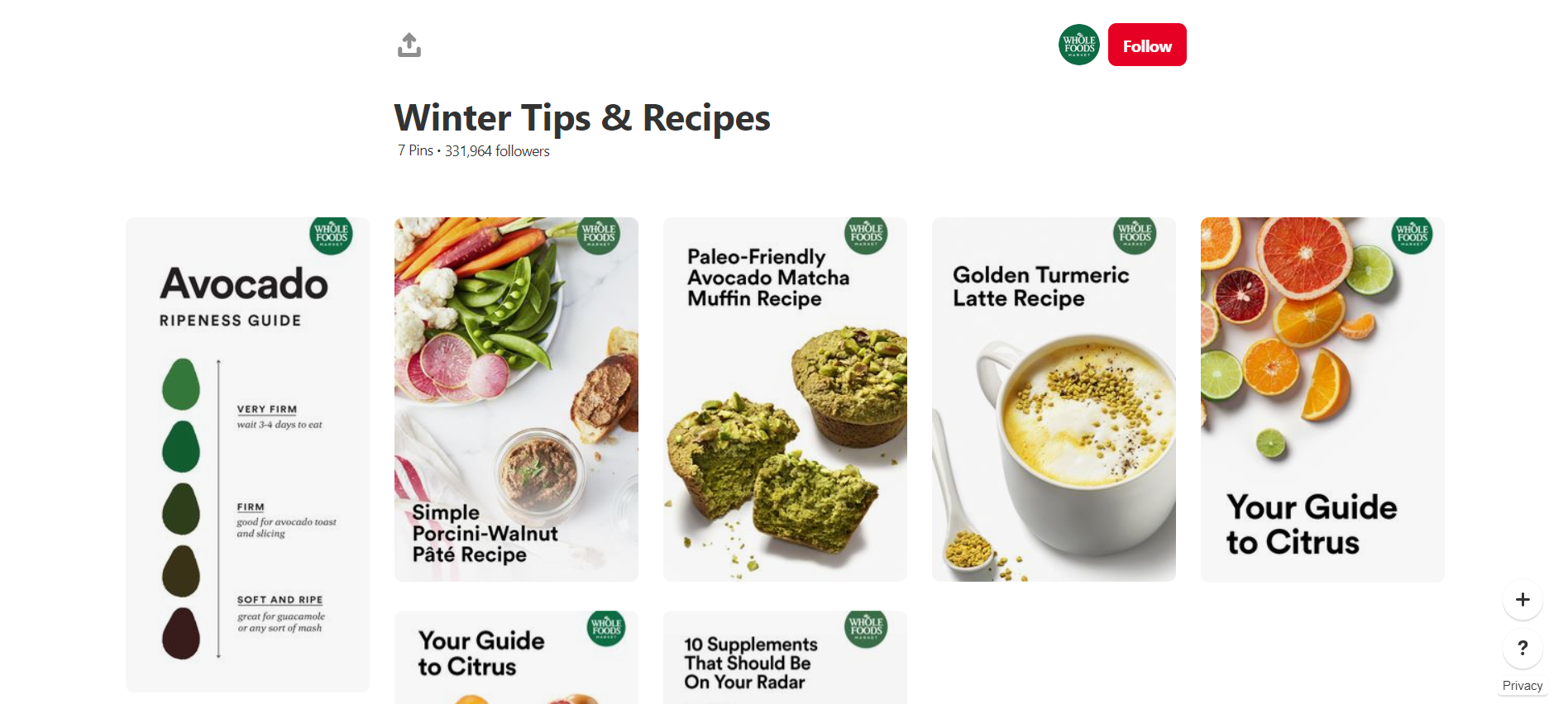 Whole Foods Market - one of the most beautiful food profiles on Pinterest
