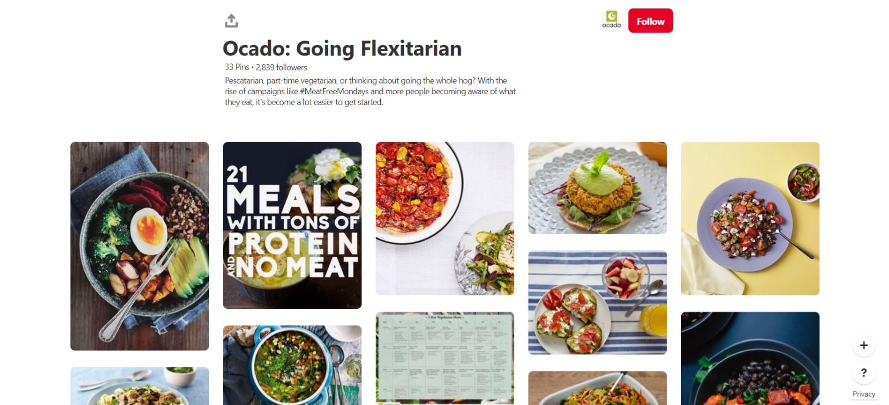 Ocado is one of the most beautiful food profiles on Pinterest