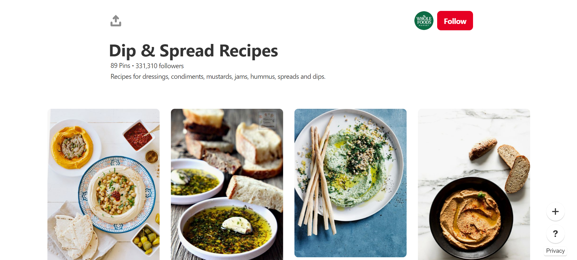 Whole Foods Market is one of the great online stores on Pinterest