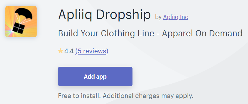 Apliiq Dropship one of the best app for clothing store