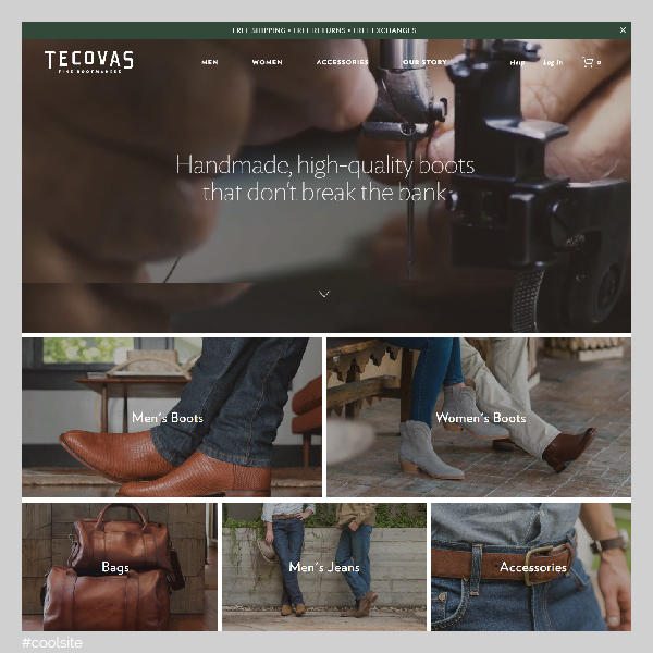 Tecovas is a cool cowboy boots store