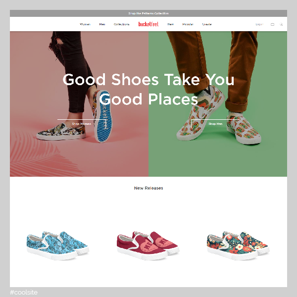 Bucketfeet is a cool shoes store