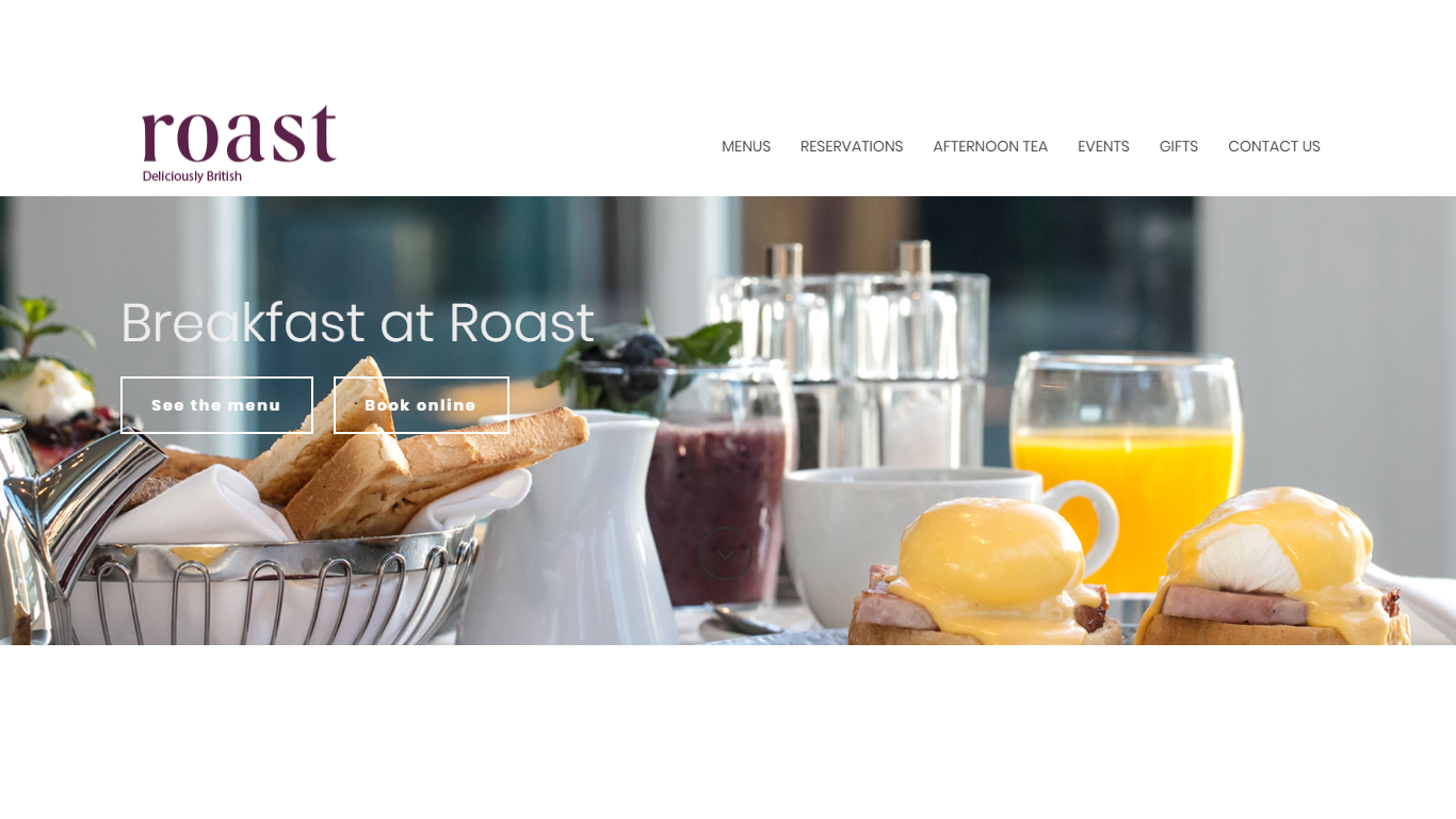 Homepage in the online food store