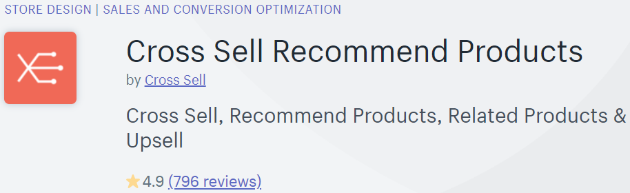 Cross Sell Recommend Product is one of the best app for display related product in your Shopify store
