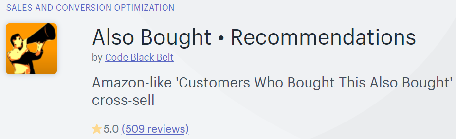 Also Bought Recommendation is one of the best app for display related product in your Shopify store