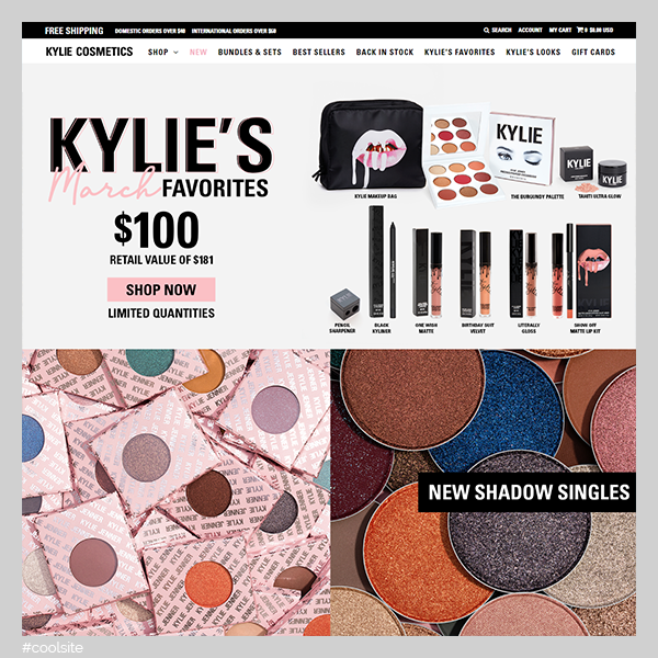 Kylie is a cool cosmetics store