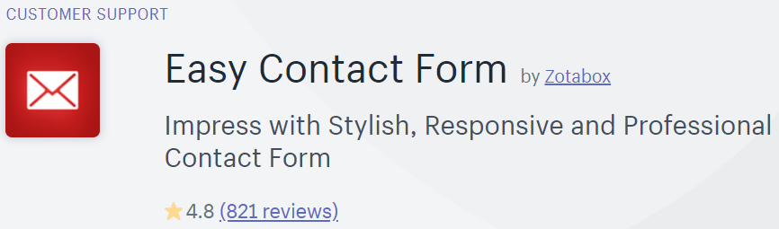 Easy Contact Form in Shopify app store
