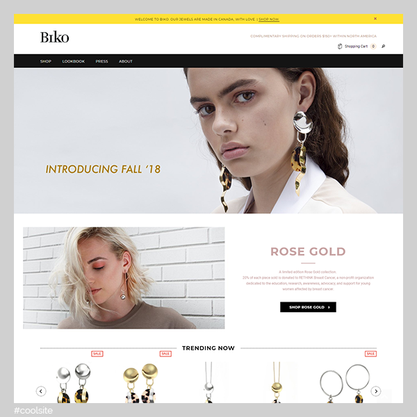 Biko is a cool jewelry store