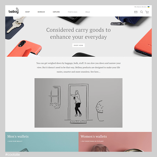 Bellroy is a cool leather wallets store