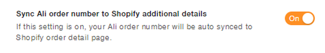 Other settings: Sync Ali order number to Shopify additional details, Leave a message to AliExpress sellers, Override phone number, etc. Sync Ali order number to Shopify additional details