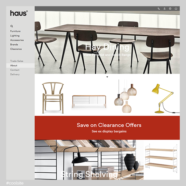 Haus is a cool furniture and household goods store