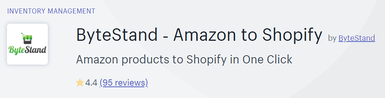 ByteStand is the application that will help you to transfer your products from Amazon to Shopify