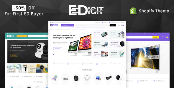 Thw second good Shopify template - eDigit