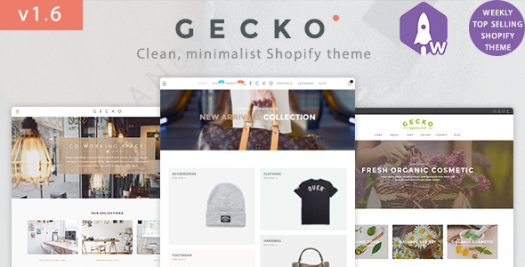 The first great Shopify template - Gecko