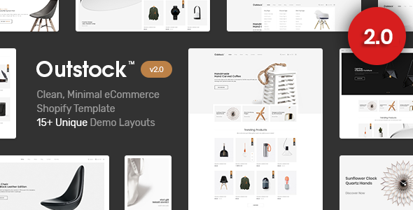 The third great Shopify template - Outstock Clean