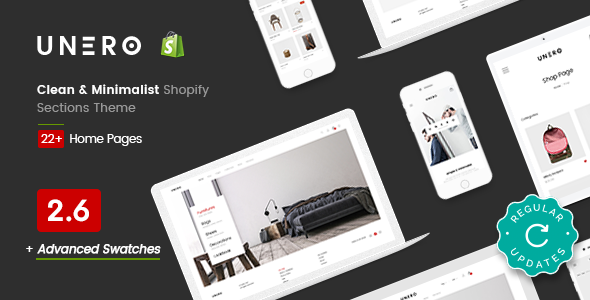 The fifth good Shopify template - Unero