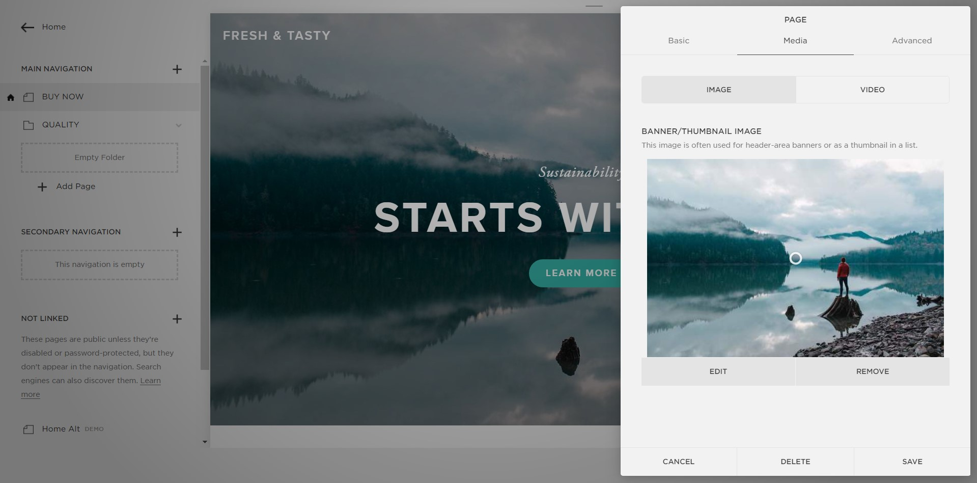 advanced design settings in Squarespace