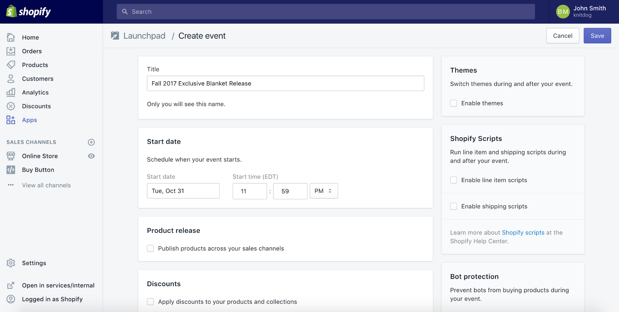 convenient application for automation and planning of events in Shopify Plus