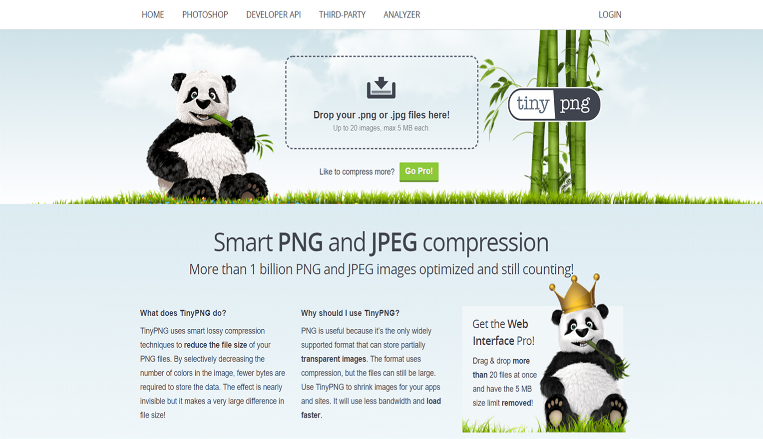tinypng is the tool for optimizing images size in Shopify online store