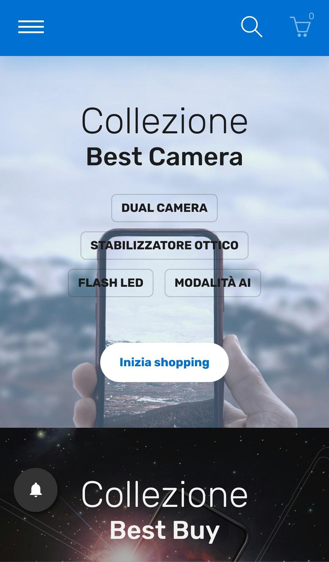 example of banner image size for mobile version in Shopify store