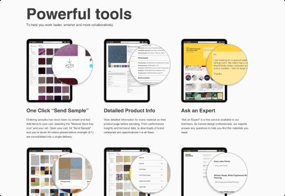 materialbank screenshot showcase 2