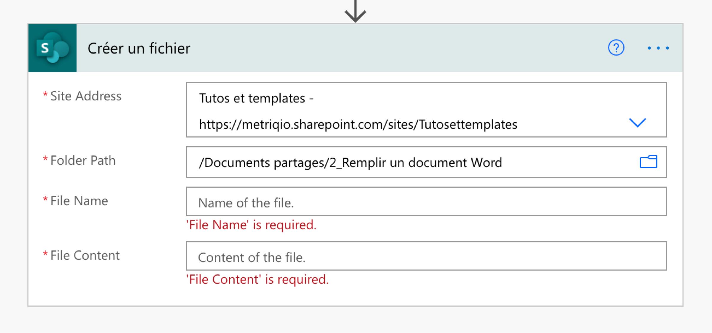 Ajouter une tâche de création de fichier