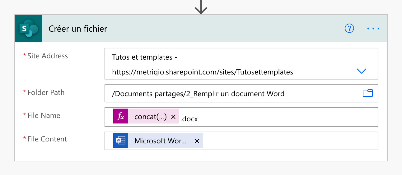 Créer un fichier unique à partir du modèle Word