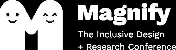 Magnify logo in white