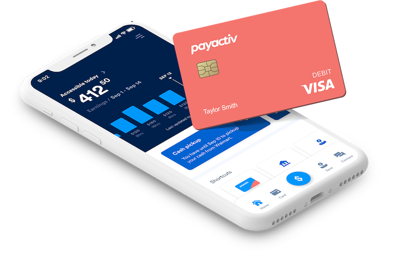 Woman using PayActiv card