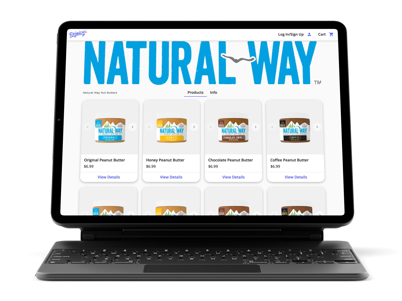 Mockup of Natural Way shop on Rejoicy