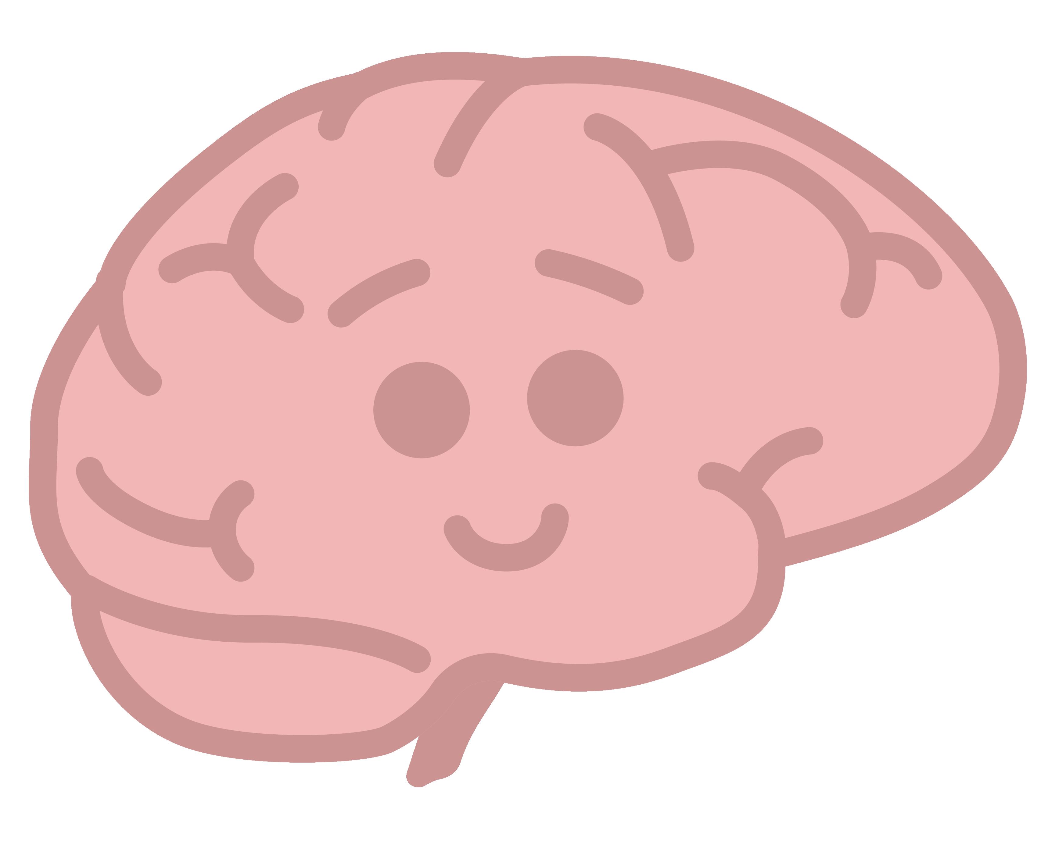 Illustration - Happy smiling brain
