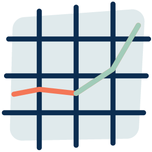 Icon - Abstract depiction of a line graph