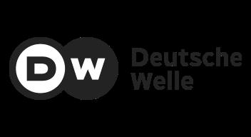 Greyscale Deutsche Welle logo