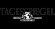 tagesspiegel logo in greyscale