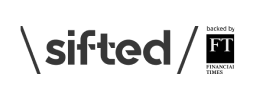 sifted logo in greyscale