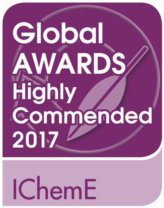I Chem E Global Awards highly commended 2017 badge