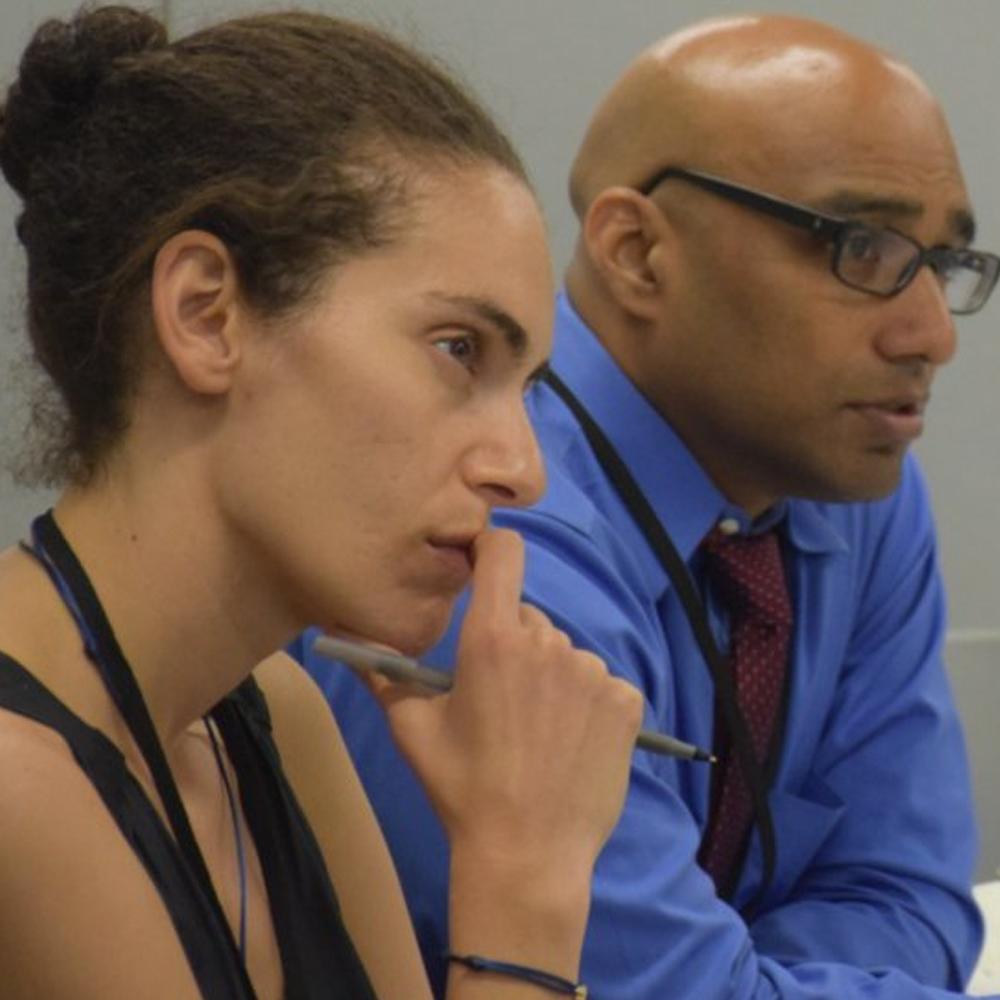 Junto Health Summit attendees listen to presentation