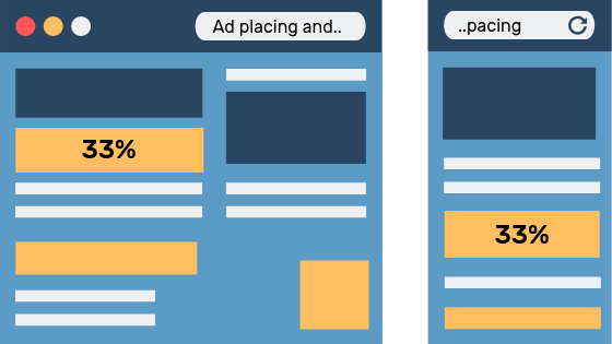 Image of how to pace and place ads.