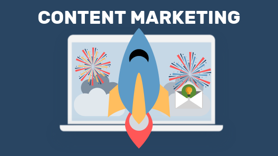 Content marketing as a tactic to gain website traffic.