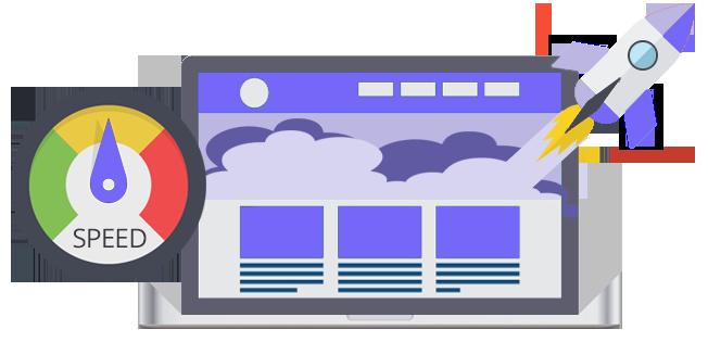 Fast loading website illustration