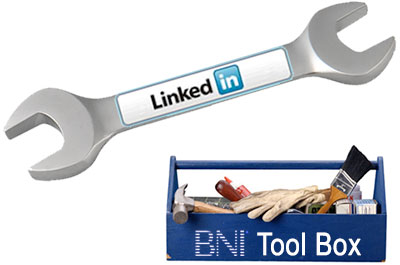 BNI toolbox with linkedin tool