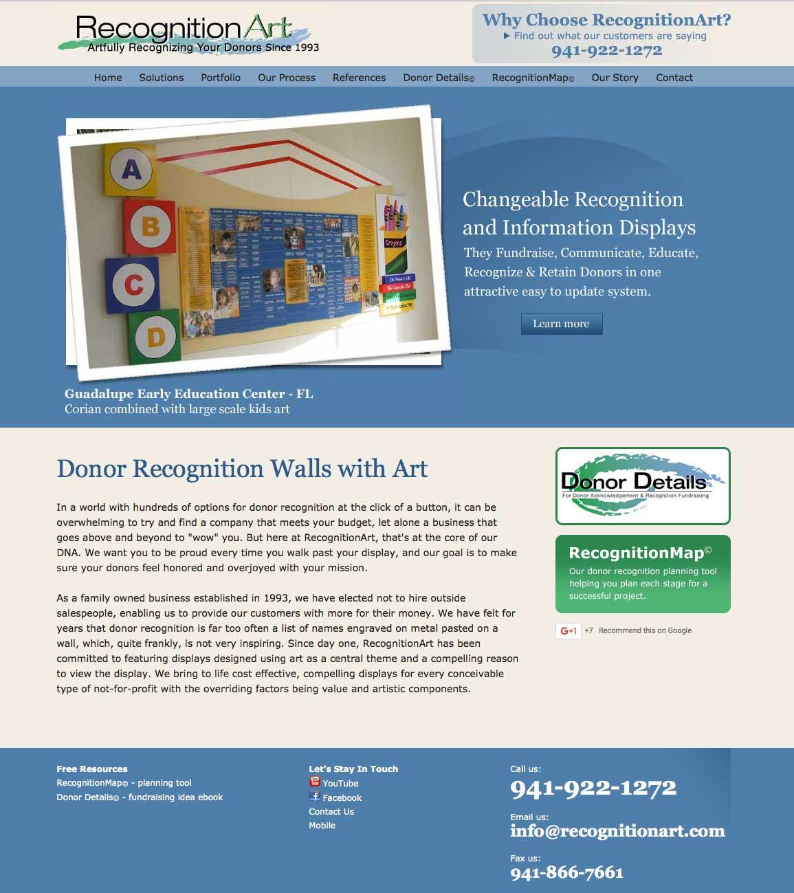 New RecognitionArt website